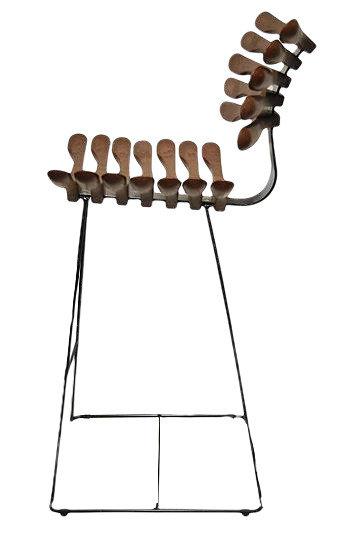 Banqueta Alta Esqueleto / Esqueleto Tall Stool Chair