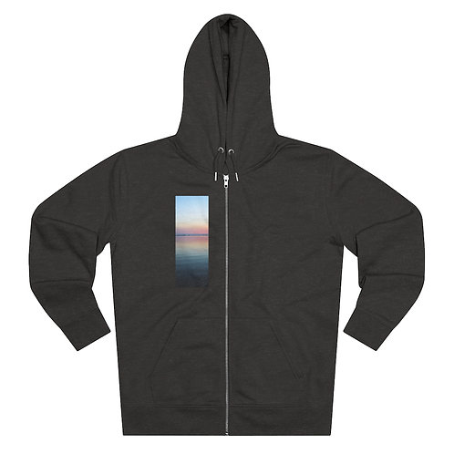 """Zen Sunset"" Organic Men's Zip Hoodie"