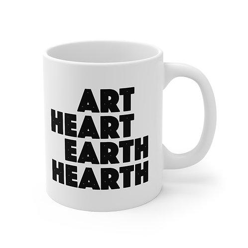 ART HEART EARTH HEARTH Mug