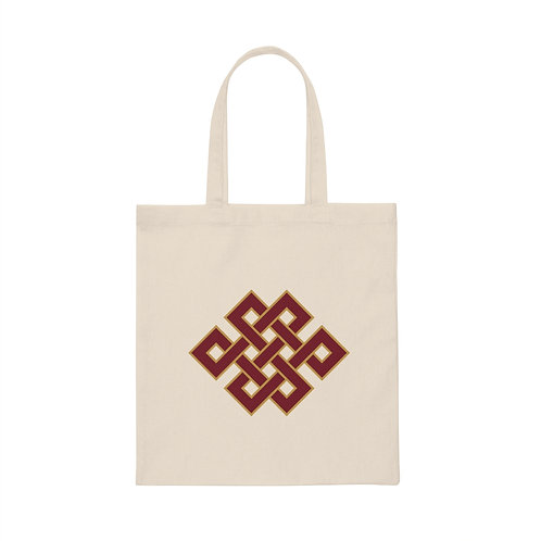 Infinity Knot Canvas Tote Bag
