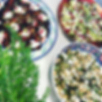 More Christmas salads and a fern of sort