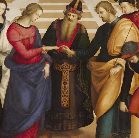 Raffael, Vermählung Mariä (Detail), 1504, Pinacoteca  di  Brera