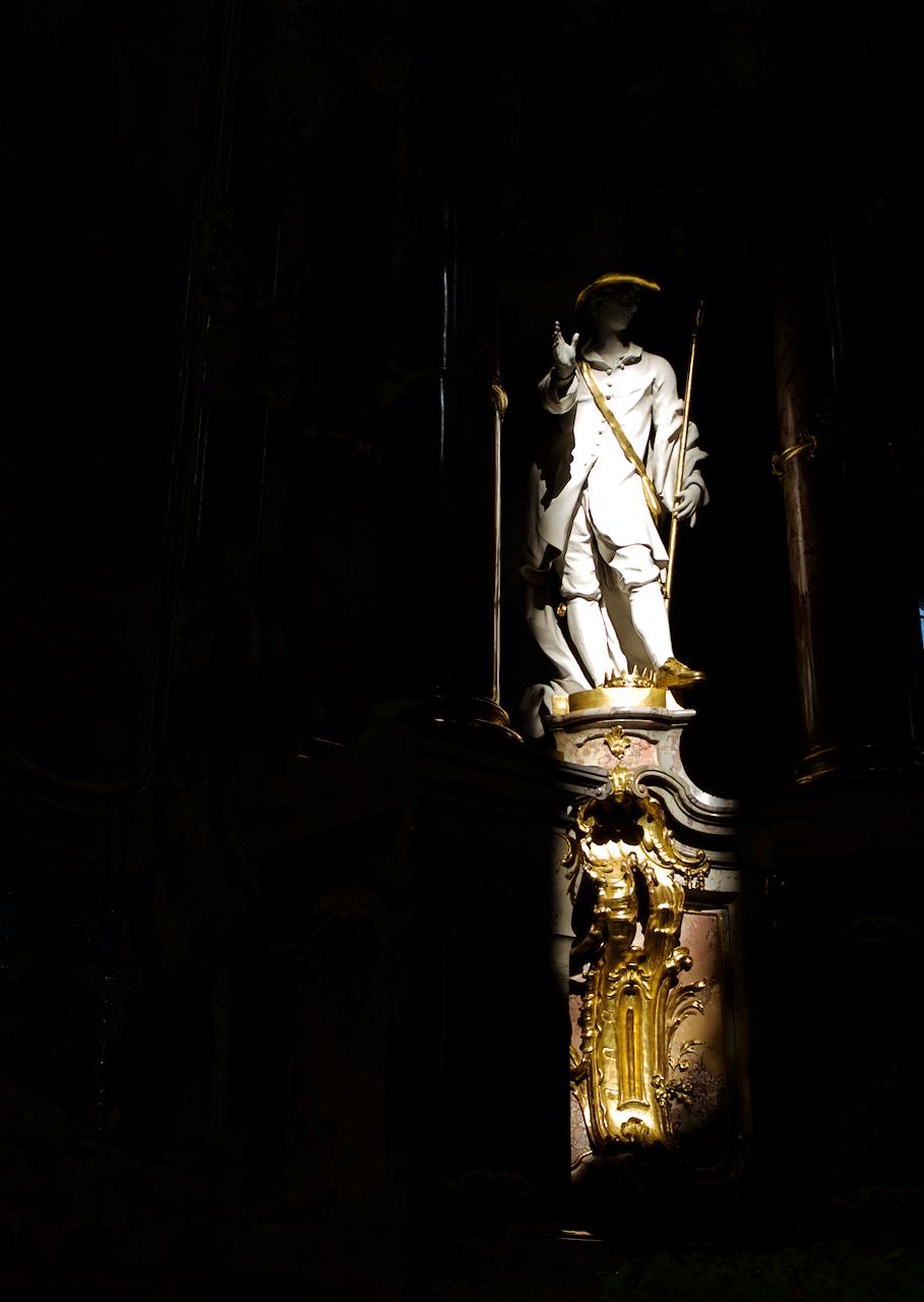 Der gute Hirte in der Basilika Heiliger Hubertius