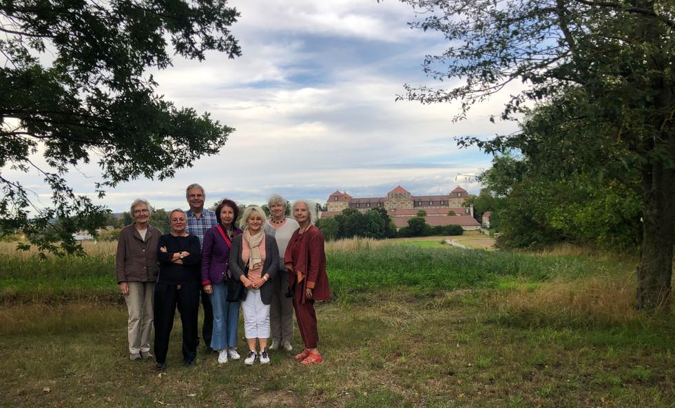 Schloss Weissenstein in Pommersfelden und unsere Reisegruppe