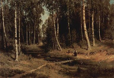 Ivan Ivanovich Shishkin_Bach im Birkenwa