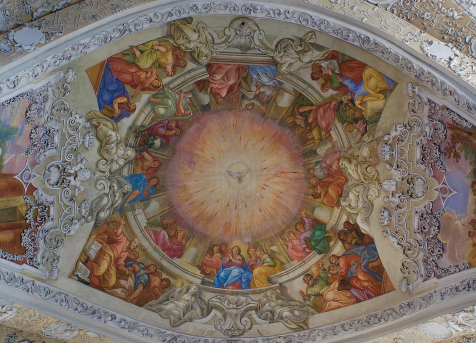 Dekenmalerei der Banzer Kloster Kirche