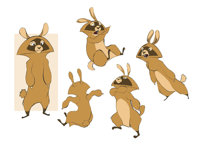 Bunny Character Pose Sheet updated 3rd d