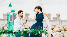Styled shoot at the Black Sea, turned into a real proposal / Minola & Robert