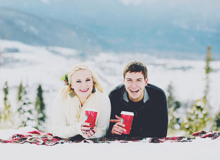 Eric & Marissa - a Colorado winter wonderland engagement session