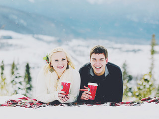 Eric & Marissa - a Colorado winter wonderland engagement session