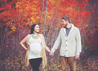Sarah & Matthew - A fall maternity tale