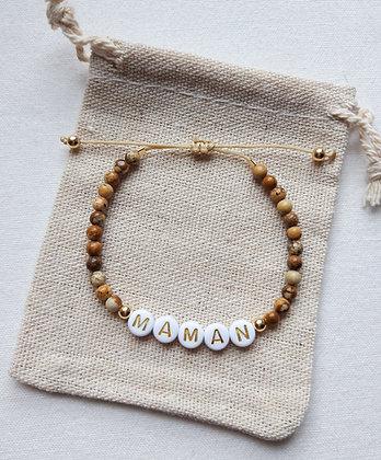 Bracelet personnalisable en Pierre naturelle Jaspe paysage