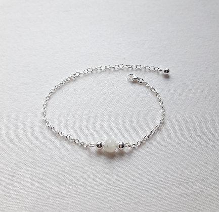 Bracelet Pierre fine Pierre de lune et chaîne argent 925