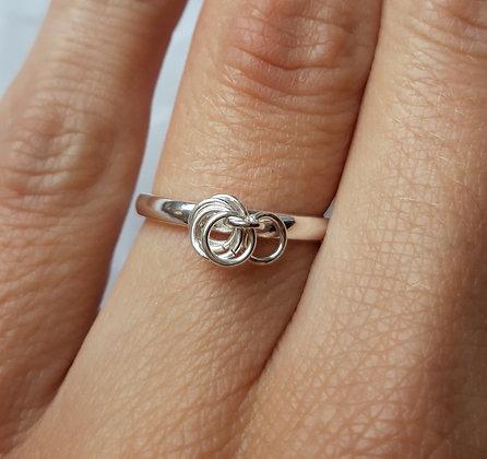 Bague fine anneaux, argent 925
