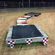 Horse Obstacles - Skinny Bridege, Step up, platform