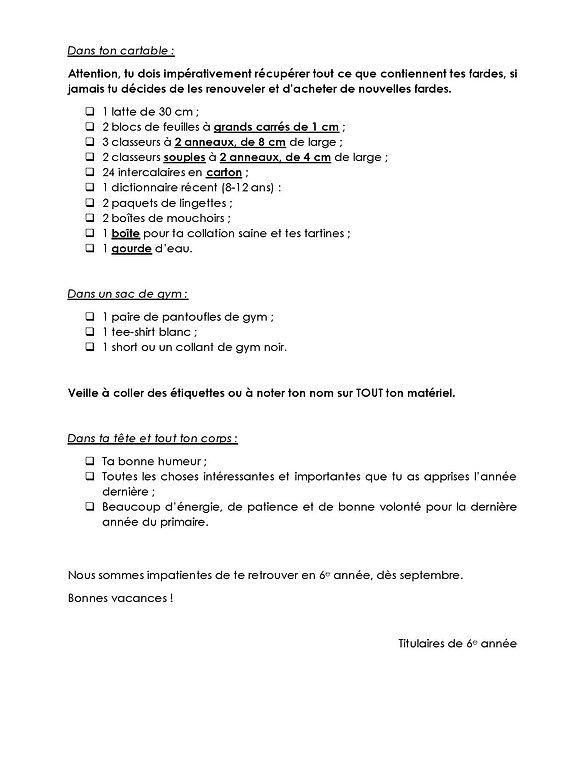 Liste P6-verso