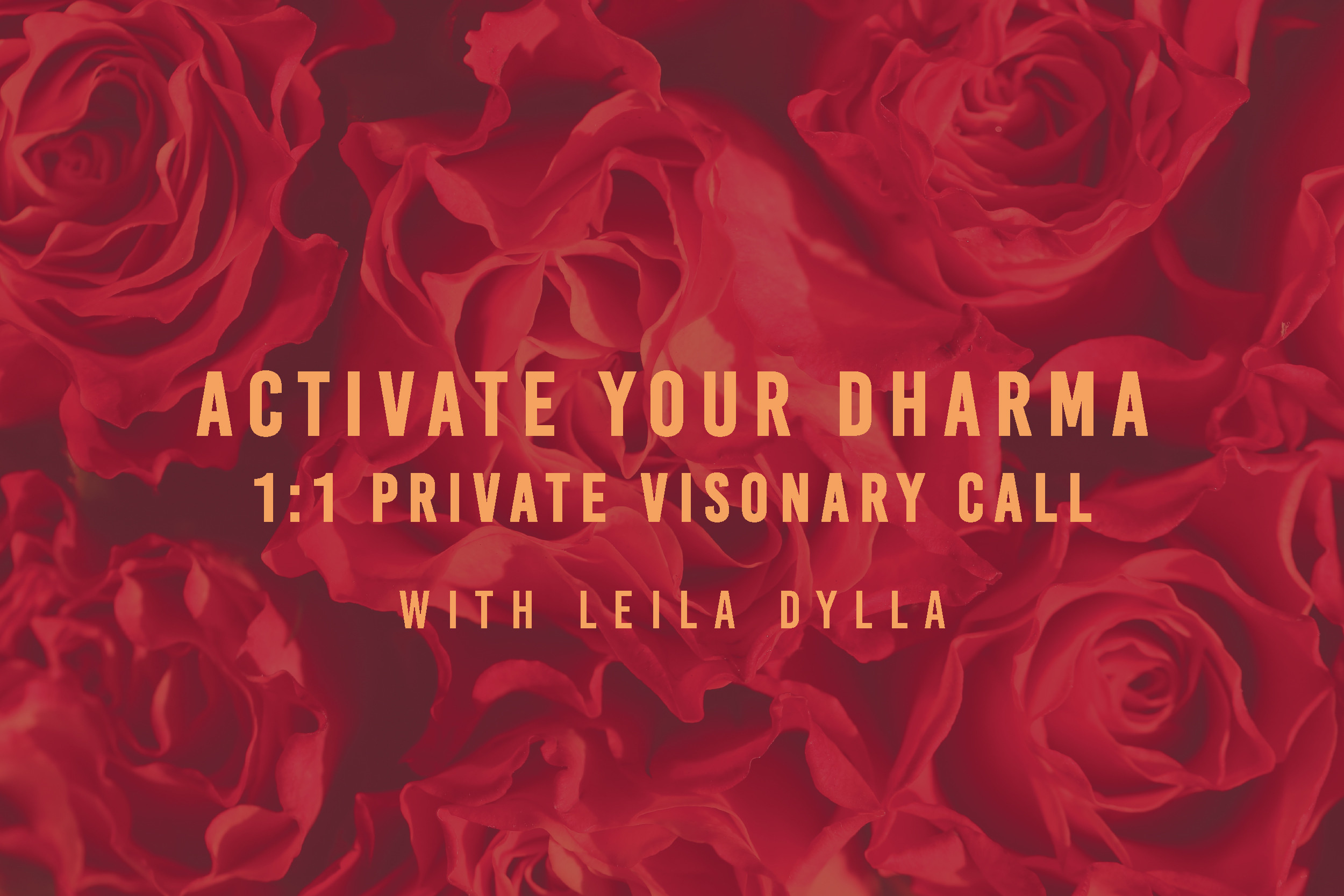 Activate Your Dharma, 1:1 Visionary Call