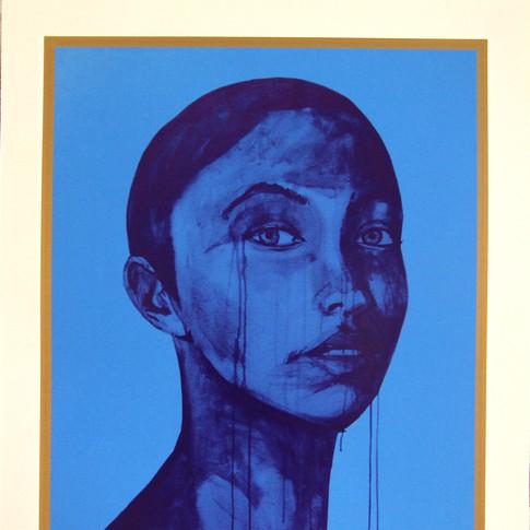 Maha blue 48x66cm 2016