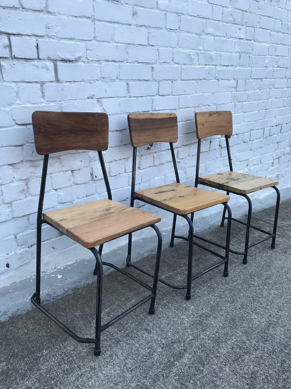 INDUSTRIAL WOODEN CHAIRS