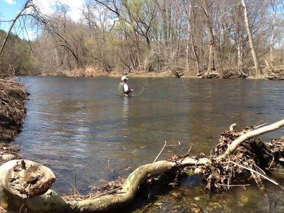 Fly Fishing view from Property
