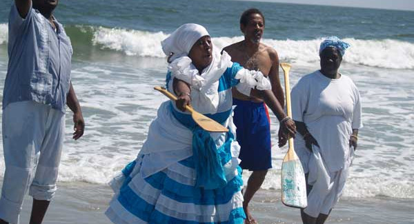 Papa Agwe possessed on Gro Mambo at Atlantic City