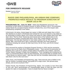 PD Press Release