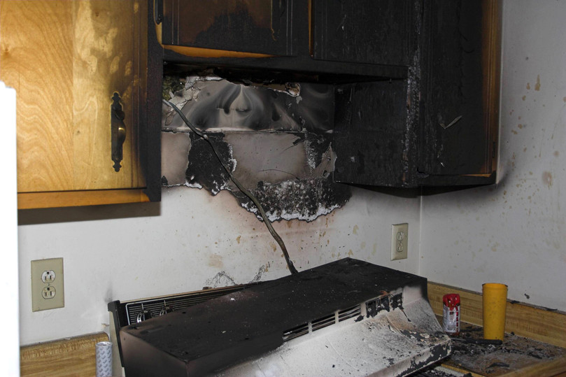 Kitchen Fire in Home