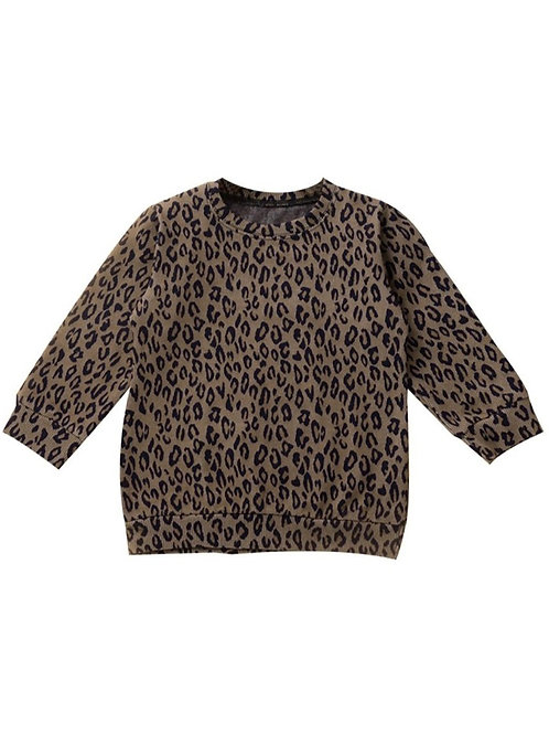Leah Basic Leopard Pullover