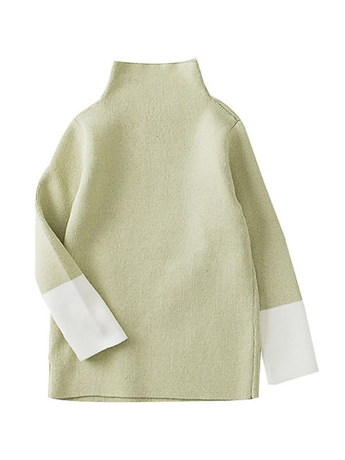 Gia Patchwork High Neck Sweater