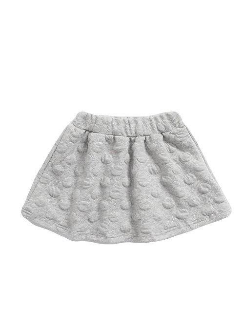 Polka Elastic Waist Skirt