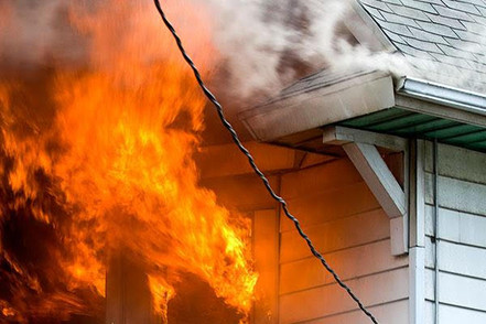 House on Fire Damage