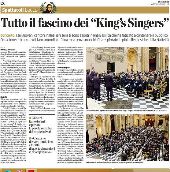 3 dicembre La Provincia - King's.jpg