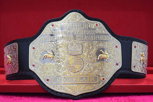 Ric Flair Black Strap World Heavyweight Memorable Championship Belt
