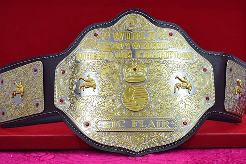 Ric Flair Brown Strap World Heavyweight Memorable Championship Belt