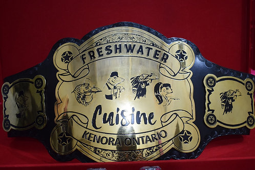 Fresty Water Cuisine Custom Replica Championship Belt