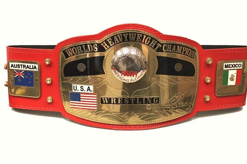NWA New Red Wrestling Memorable Replica Championship Belt
