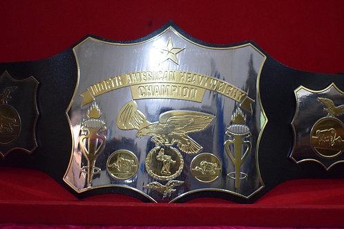 Old School World American Wrestling Championship Belt