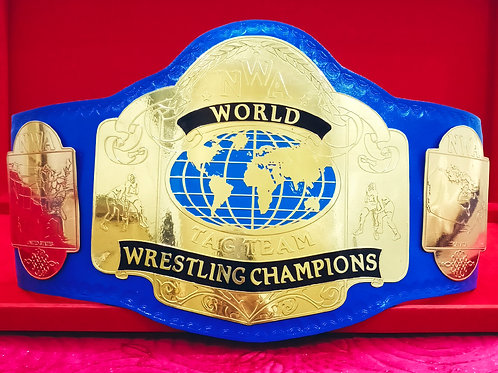 NWA World Tag Team Blue Strap Wrestling Championship Belt