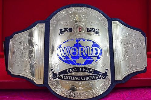 WCW Six Man World Tag Team Wrestling Replica Championship Belt