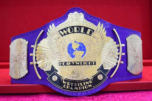 Old School Wrestling Ultimate Warrior Purple Winged Eagle Championship Belt