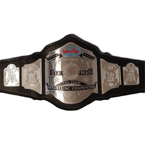 Six Man Tag Team Championship Replica Title Belt