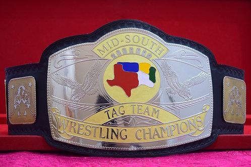 Mis-South Tag Team Wrestling Championship Belt