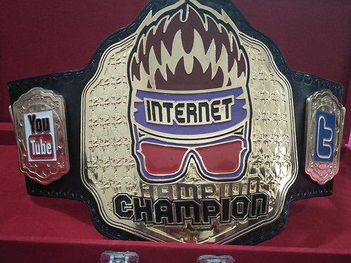 Gold Plate Zack Ryder Internet Memorable Championship Belt