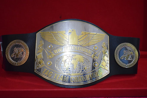 Old School International Tag Team Memorable Replica Championship Belt