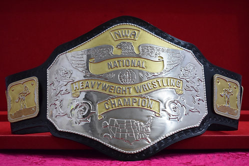 NWA National Heavyweight Wrestling Championship Zinc Plates Belt