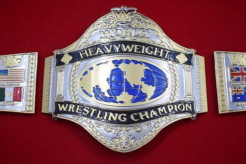 Hogan 1986 World Heavyweight Championship 4mm Zinc Plates and Belt