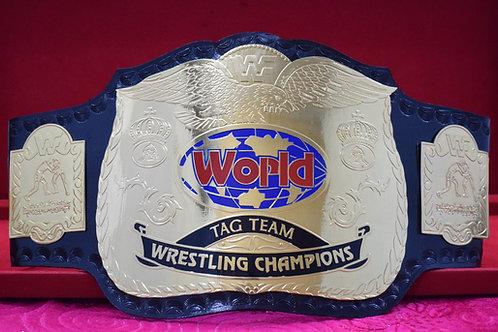 Old Wrestling Tag Team Memorable Championship Belt