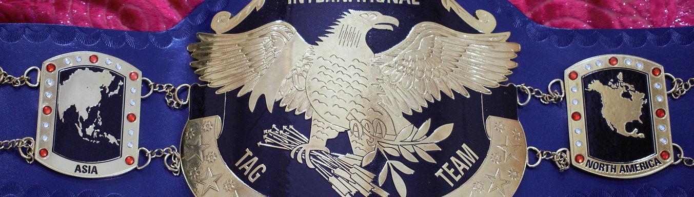 New International Tag Team Replica championship Belt