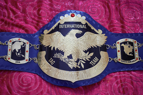 New International Tag Team Replica championship Belt