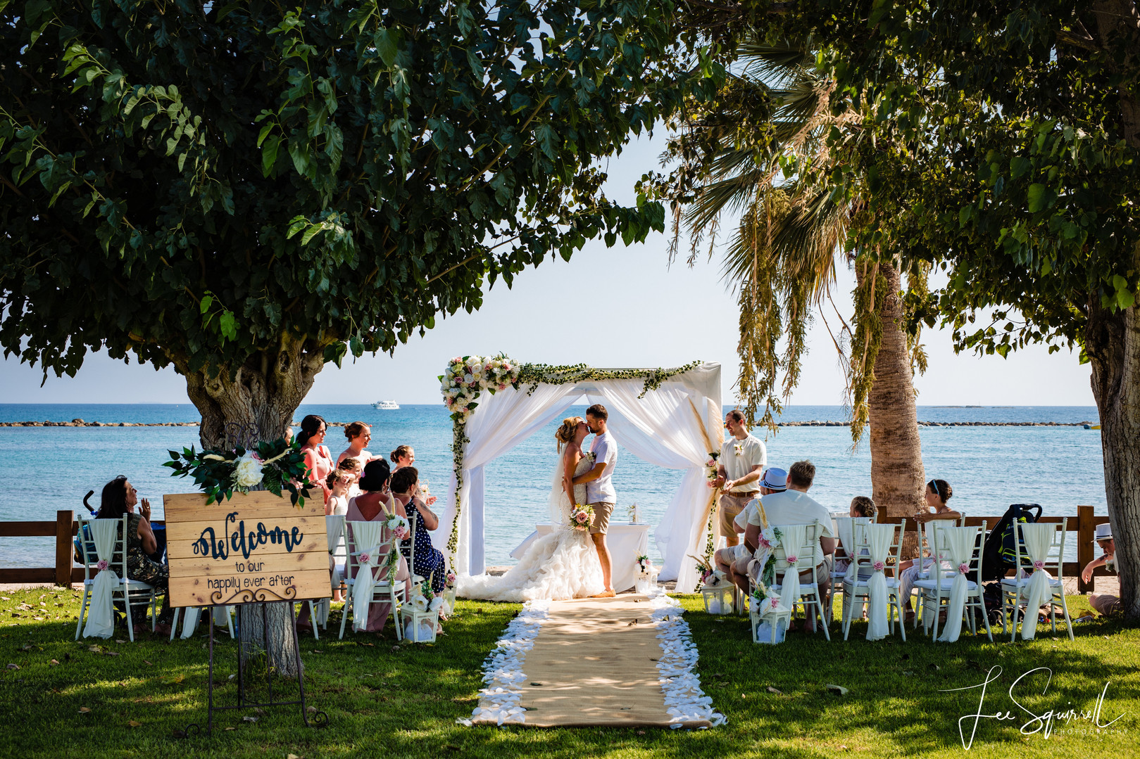 Wedding at Atlantida Beach Bar Paphos by Tie the Knot Weddings